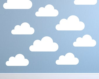 Clouds Wall Decal Set Of  Cloud Decals Wall Stickers - Nursery wall decals clouds