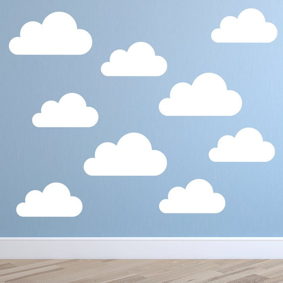 Set Of Large Clouds Wall Decal Nursery Wall Decal Childs - Nursery wall decals clouds