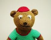 Bear crochet doll, Crochet stuffed toy, Baby boy best friend, Crochet fun creature, Handmade baby doll, Little girl friend, Bear baby toy