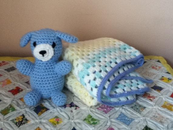 Amigurumi Baby Blanket : Amigurumi Puppy and Crochet Granny Square by ...