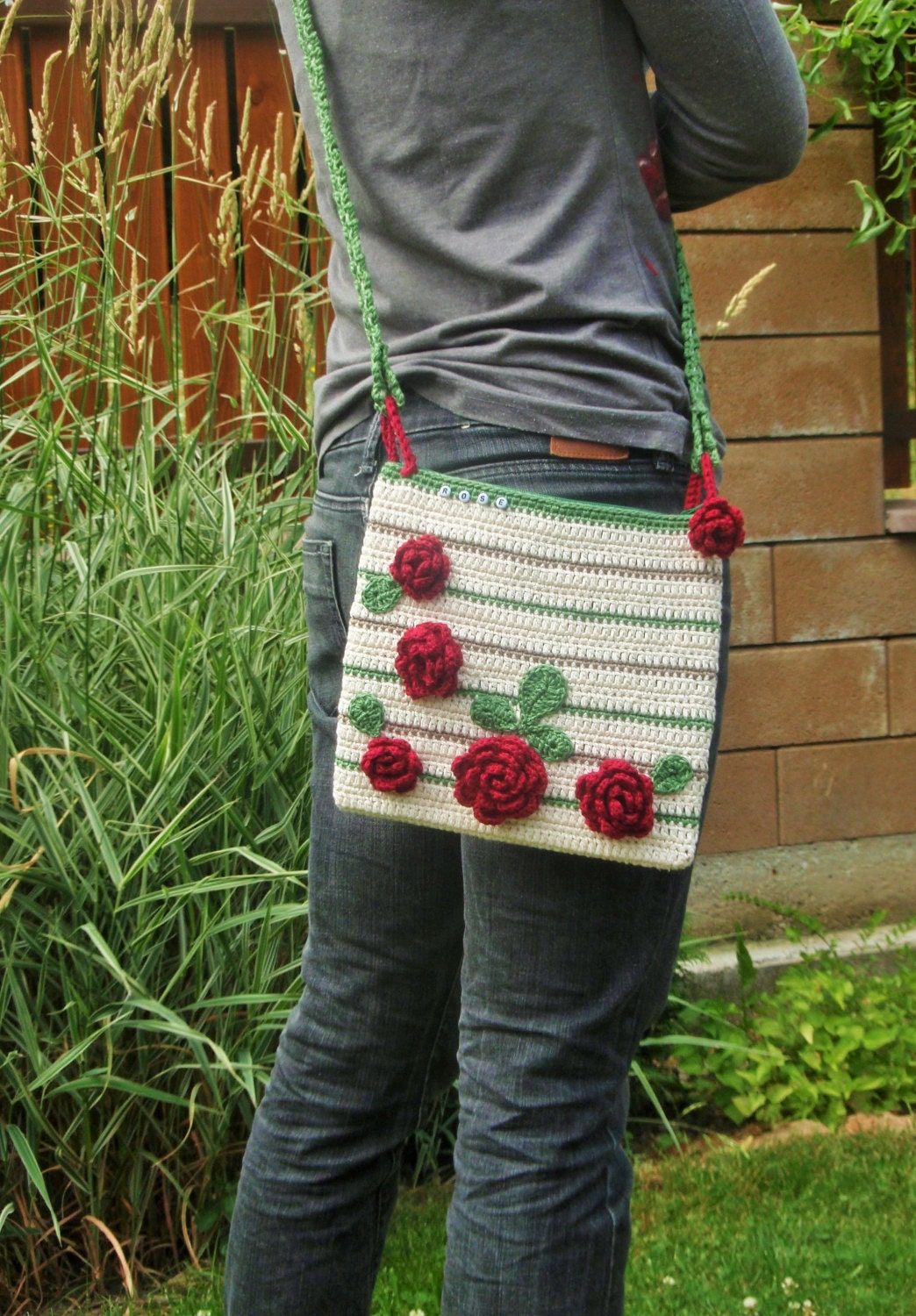 CROCHET PATTERN crossbody purse / bag with by Crazyhookontheway