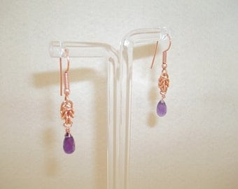 S - 193 Amethyst drop earrings