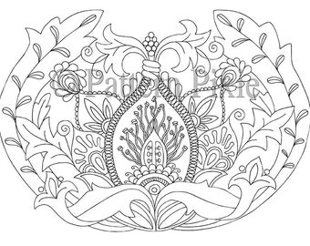 Adult Colouring Page Flower Anatomy