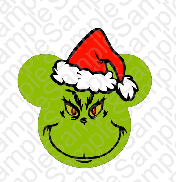 Christmas Grinch Mouse Head Inspired T Shirt Face SVG and DXF Cut ...