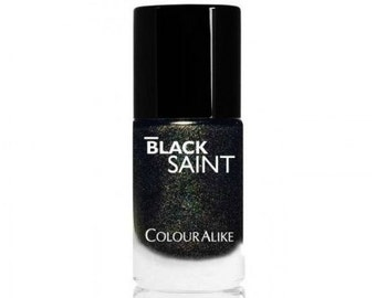 Holographic nail polish Black Saint