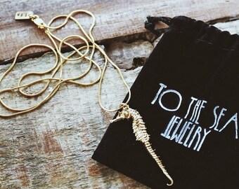 Sandy Seahorse Necklace