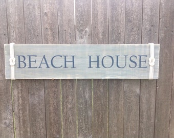 Sign- Handpainted- BEACH HOUSE