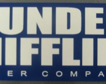 DUNDER MIFFLIN PAPER Company the office sticker decal