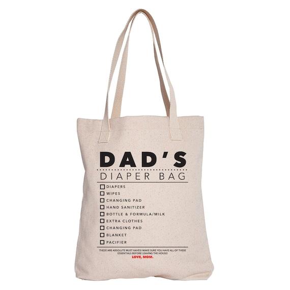 dad 39 s diaper bag tote by kensleykids on etsy. Black Bedroom Furniture Sets. Home Design Ideas
