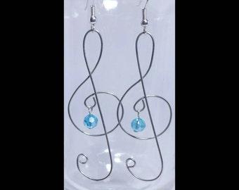 Customizable Treble Clef Earrings