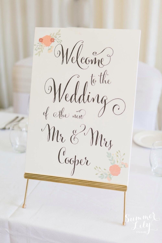 gold easel wedding decoration signage wedding signs