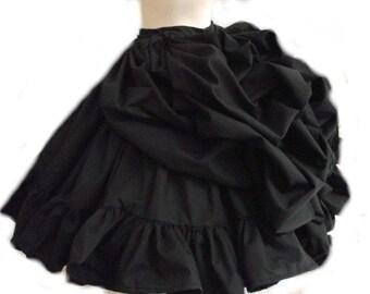 Bustle Skirt - Black Skirt - Gothic Lolita Skirt - Goth Loli Skirt - Steampunk Skirt - Goth Skirt - Gothic Skirt - Steam Punk Skirt - Custom