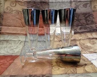 Champagne Flutes 25th Anniversary glasses
