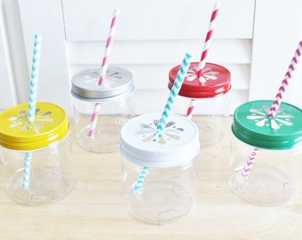 Plastic Mason Jars, 10 Plastic Mason Jar Cups, Wedding, Baby Shower, Favors, Kids Party Cups, Party Supplies, Kids Table, Party Favors, USA