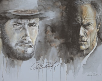 Clint Eastwood Giclee Limited Edition  Print