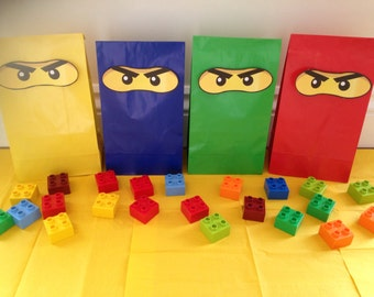 Lego inspired Ninjago party bags