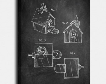 Snoopy Canvases, Patent, Vintage Art, Blueprint, Poster, Print, Patents, Wall Art, Décor