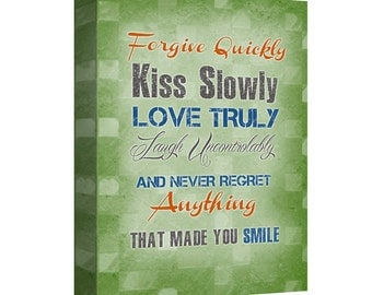 """Gallery Canvas Wrap 24 x 36 - """"Forgive Quickly"""""""