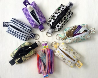 Mini Box Zipper Pouch Key Chain