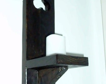 Reclaimed wooden candle sconce.
