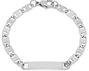 Stainless Steel Kid's Engraveable Chain Link Bracelets