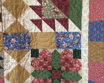 "Sampler Quilt - Jenny Beyer Fabric - 60"" x 74"""
