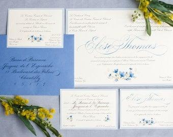 invitation de mariage classique - Faire Part Mariage Etsy