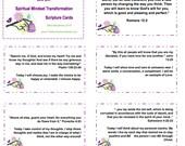Set of 30 Bible Verses Cards on Biblical Mindset Christian Scripture Cards, Printable Christian Gift, Bible Memory Cards - INSTANT Download
