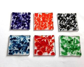Colorful glass Set below
