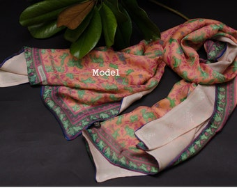 100% Silk shawl/scarf/wrap. conditioning beach sunproof wraps with jacquard weave