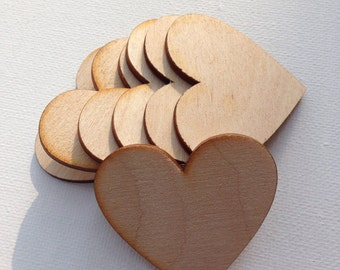 "2"" Wood hearts.  Tags/decorations.  Quantity 80 hearts"