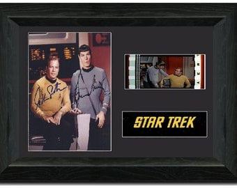 Star Trek 35mm Film cell display Signed Stunning Collectible Leonard Nimoy Spock