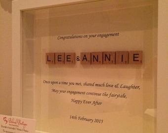 Fairytale Scrabble Frame Wedding / Engagement