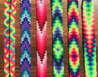 Friendship Bracelet.Friendship jewelry.Braided.Rainbow.Wrap.Woven.Summer.Gift.Best friend.Neon.Splash.Girl.Boy.Woman.Mother.Wristband.Fire.