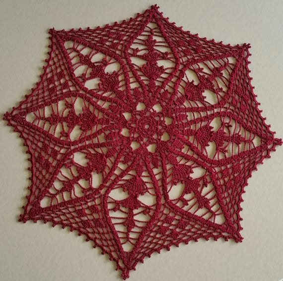 Crochet lace doily home decor crochet table topper table for Lace home decor