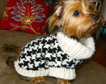 Houndstooth Dog Sweater, available in 12 colours
