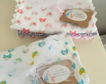 Cozy Soft Burp Cloths (Set of 4)