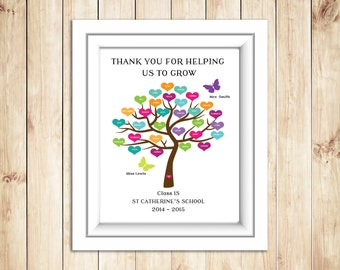 Teacher Print 'Thank You For Helping Us To Grow'