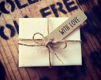 Rustic wedding favour soap pack of 75