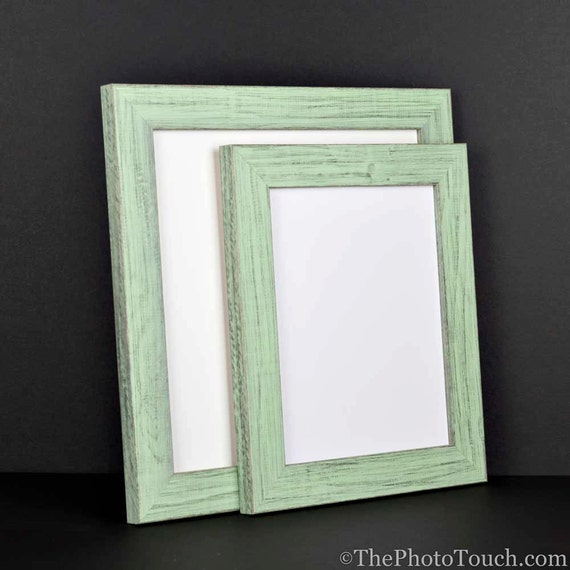 mint green photo frame picture frame rustic reclaimed
