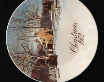 Christmas 1972 Smuckers Collectors Plate