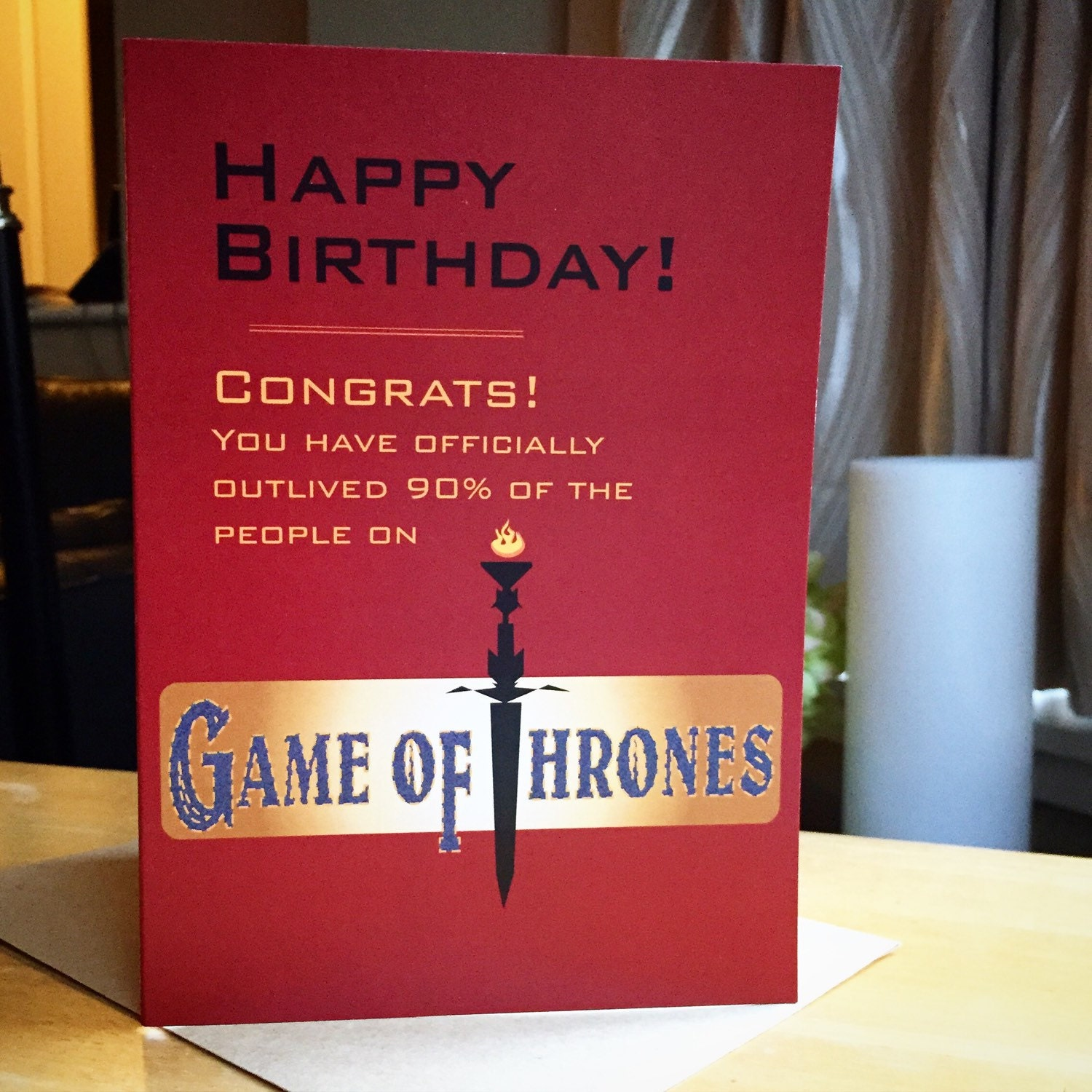 Funny Game Of Thrones Birthday Card-Happy Birthday By