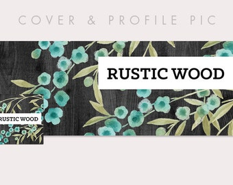 Timeline Cover + Profile Picture | Rustic Wood | Timeline Cover, Profile Picture, Branding, Blog Header, Social Media, Web Banner