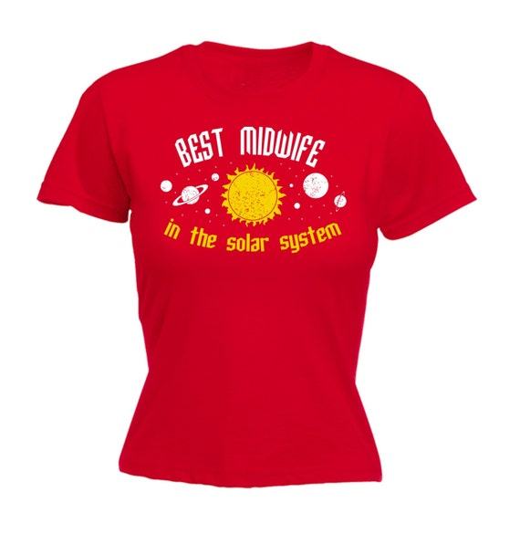 123t slogan women s best midwife in the solar system galaxy fitted