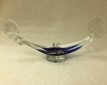 Murano Art Glass Ashtray Boat - Made in Italy