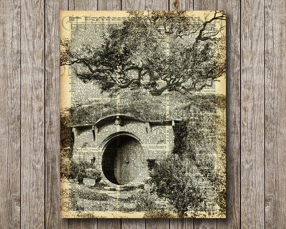 The bag end hobbit house lord of the rings by dictionaryartdigital - Hobbit book ends ...