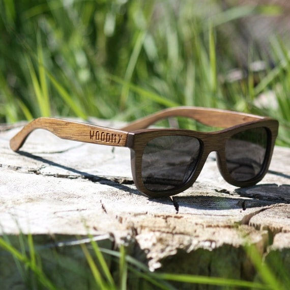 Handmade Wood Sunglasses | Brown | Wayfarer Wooden Sunglasses | Mens Sunglasses | Womens Sunglasses | Polarised | Small