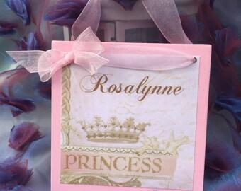 Princess Custom Sign