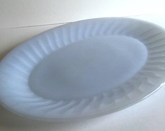 Fire King Azurite Swirl Platter