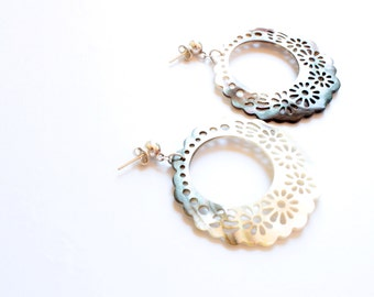 Mother of Pearl and Silver earrings 925